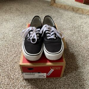 Vans Authentic Platform canvas black
